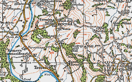 Old map of Bettws Newydd in 1919