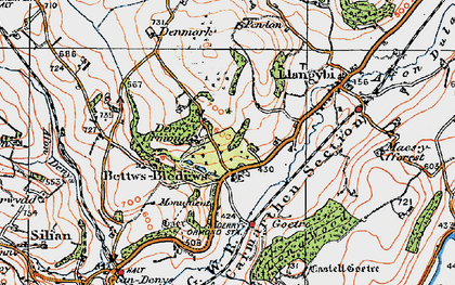 Old map of Betws Bledrws in 1923
