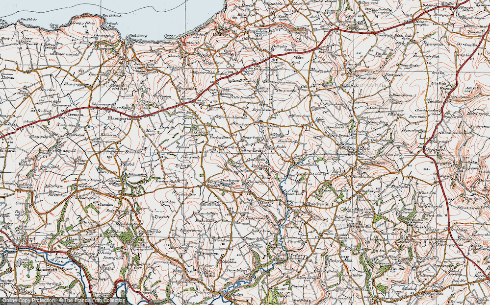 Old Map of Betws Ifan, 1923 in 1923