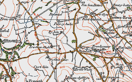 Old map of Beulah in 1923