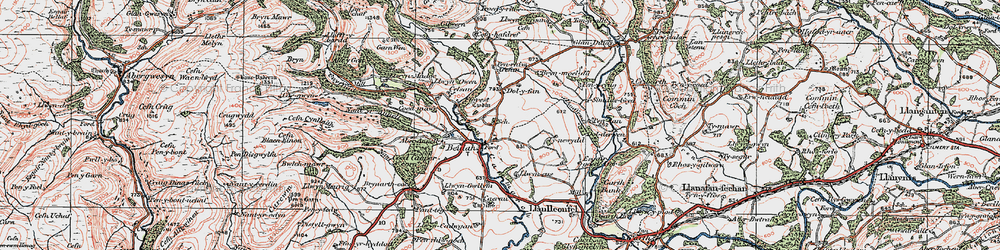 Old map of Aberannell in 1923