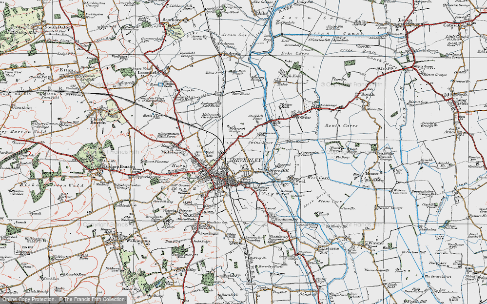 Old Map of Beverley, 1924 in 1924