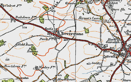 Old map of Beverston in 1919