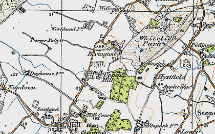 Old map of Willis Elm in 1919