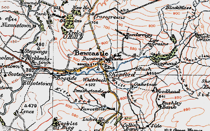 Old map of Ashy Cleugh in 1925