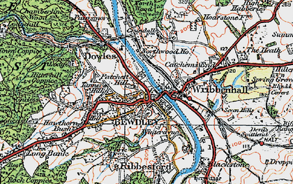 Old map of Bewdley in 1921
