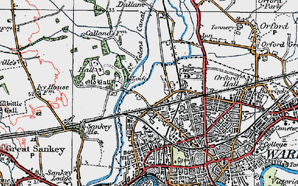 Old map of Bewsey in 1923