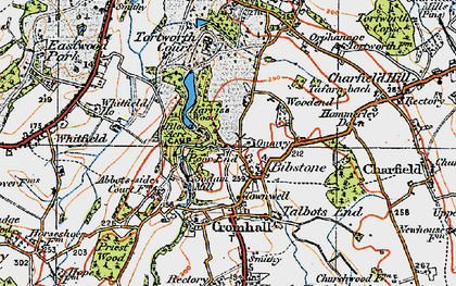 Old map of Bibstone in 1919