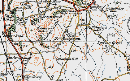 Old map of Larkton Hill in 1921