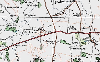Old map of Wharton Lodge in 1925