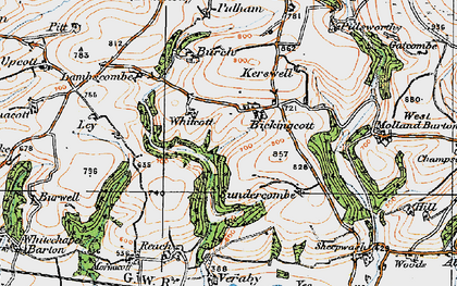 Old map of Whitcott in 1919
