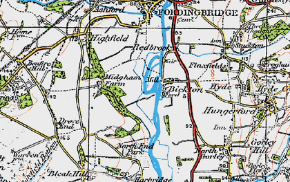 Old map of Bickton in 1919