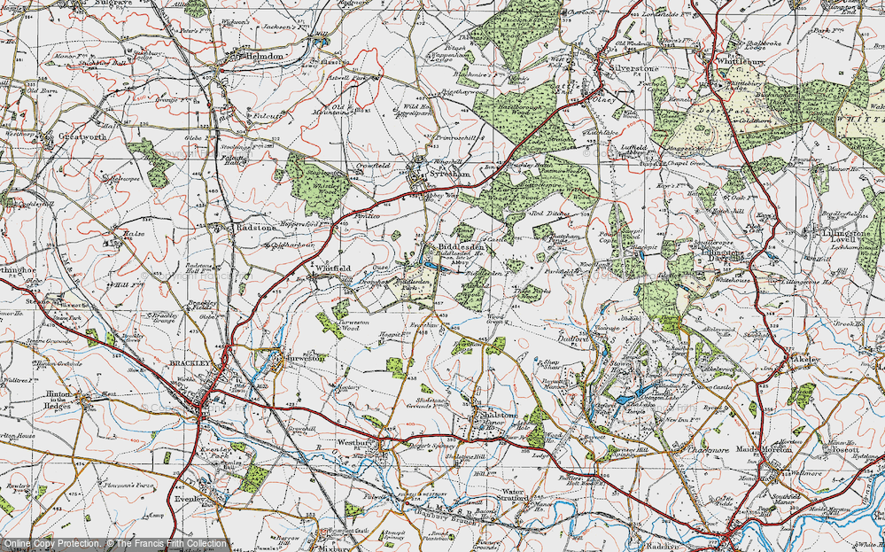 Old Map of Historic Map covering Wood Green in 1919
