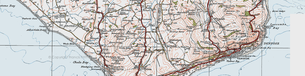 Old map of Wydcombe in 1919