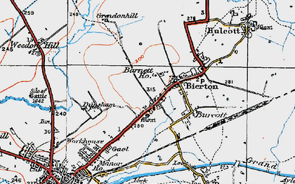 Old map of Bierton in 1919