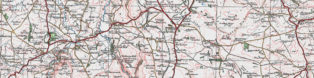 Old map of Wolfscote Hill in 1923