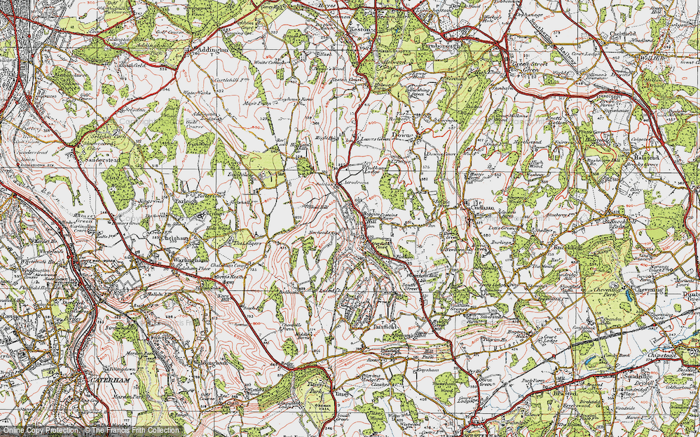 Old Map of Biggin Hill, 1920 in 1920