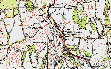 Old map of Biggin Hill in 1920