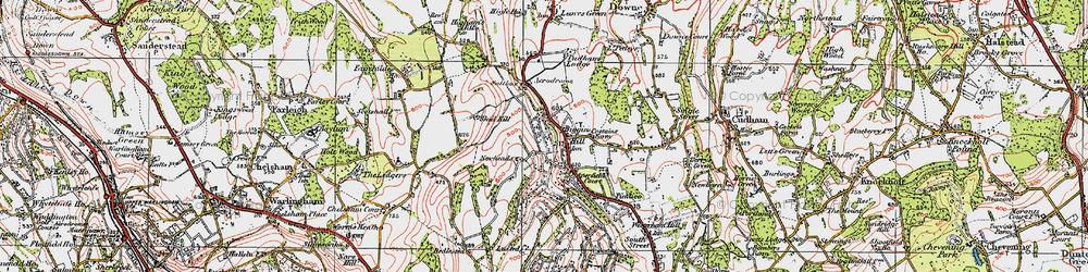Old map of Biggin Hill in 1920