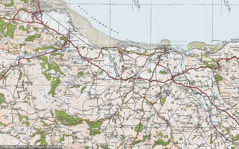 Old Map of Historic Map covering Linton in 1919