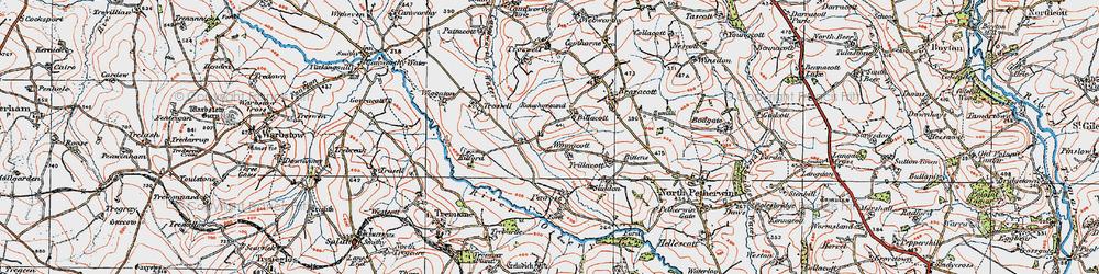Old map of Winnacott in 1919