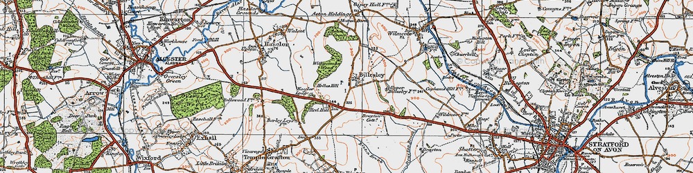 Old map of Withycombe Wood in 1919