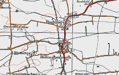 Old map of Billingborough in 1922