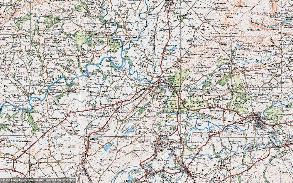 Old Map of Billington, 1924 in 1924