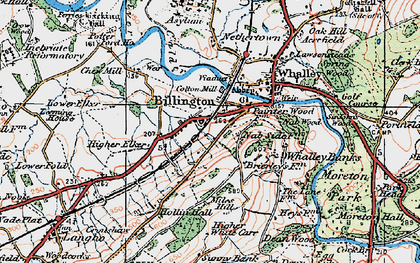 Old map of Billington in 1924