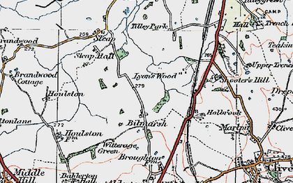 Old map of Tilley Park in 1921