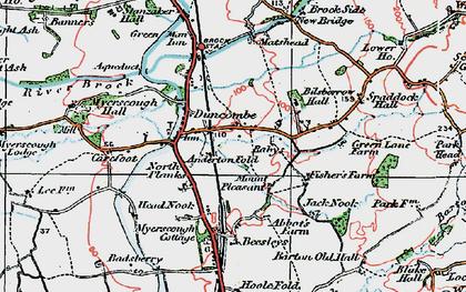 Old map of Bilsborrow in 1924