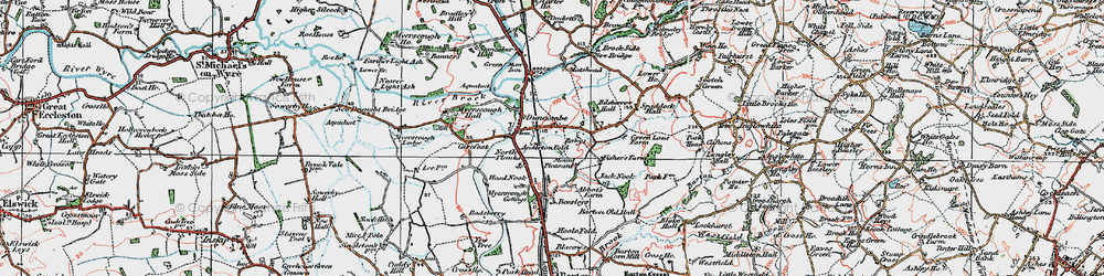 Old map of Anderton Fold in 1924