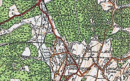 Old map of Bilson Green in 1919
