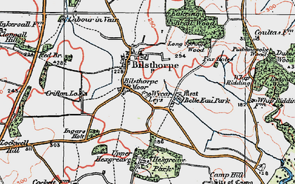 Old map of Wycar Leys in 1923