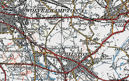 Old map of Bilston in 1921