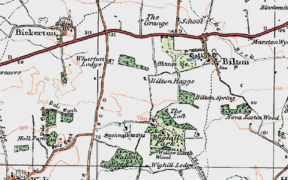 Old map of Wighill Lodge in 1925