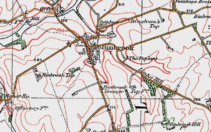 Old map of Binbrook in 1923