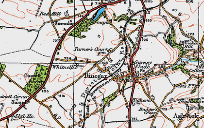 Old map of Whitnell Ho in 1919