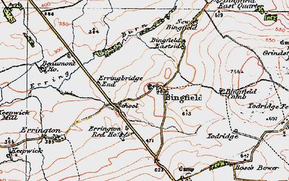 Old map of Todridge Fell in 1925