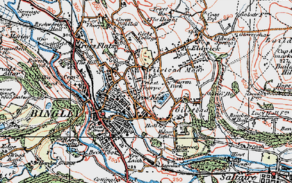 Old map of Bingley in 1925