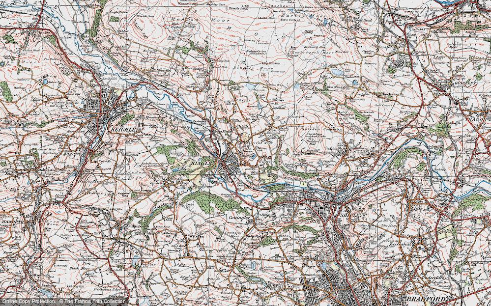 Map of Bingley 1925 Francis Frith