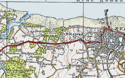 Old map of Binstead in 1919