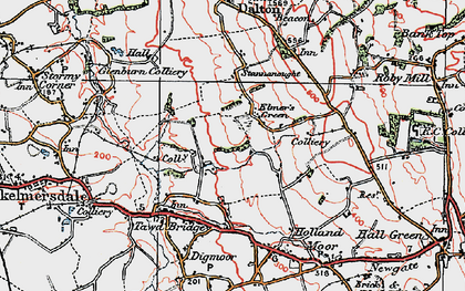 Old map of Birch Green in 1923