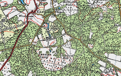 Old map of Birch Hill in 1919