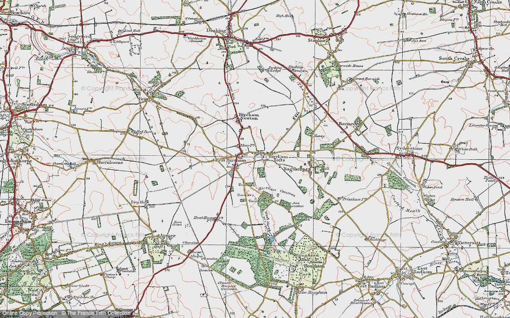 Old Map of Historic Map covering Tofts Dale in 1921