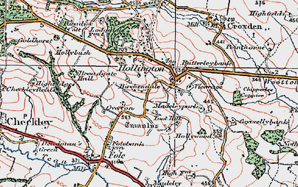 Old map of Toot Hill in 1921
