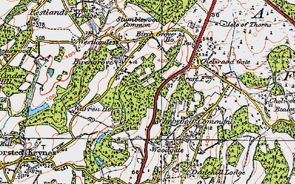 Old map of Westlands in 1920