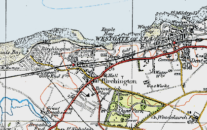 Old map of Birchington in 1920
