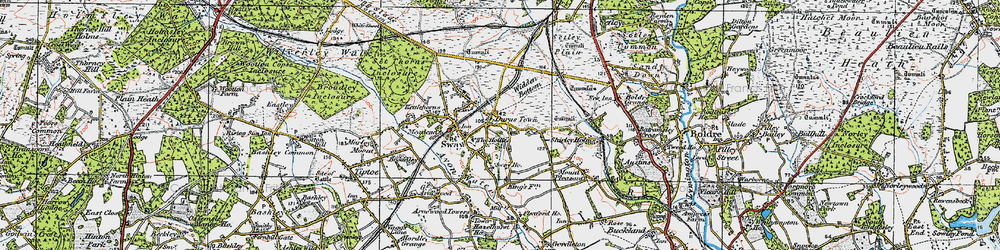 Old map of Widden Bottom in 1919