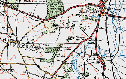 Old map of Bircotes in 1923